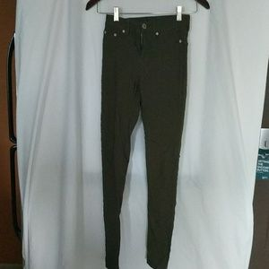 Rue21 Pants - rue21 Army Green Mid-Waist Stretch Skinny Jeggings